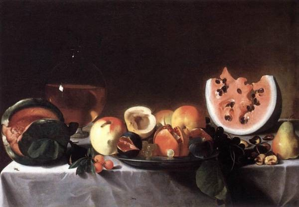 Still Life With Fruit And A Carafe Of White Wine